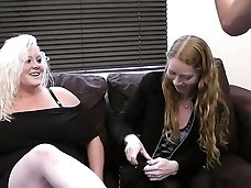 Hot blonde BBW whore caught