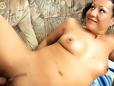 Pigtailed granny sucks fucks a younger man..